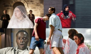 Timothée Chalamet and Armie Hammer in Call Me By Your Name; Florence Pugh in Lady Macbeth; Robert Pattinson in Good Time; Garance Marillier in Raw; Daniel Kaluuya in Get Out.