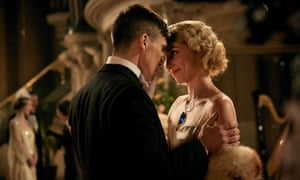 I'm not sure I buy Tommy Shelby the family man … Tommy (Cillian Murphy) with his wife Grace (Annabelle Wallis).