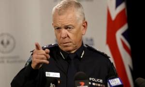 South Australian police commissioner Grant Stevens