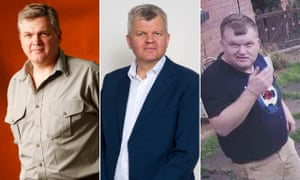 Spot the difference … Ray Mears, Adrian Chiles and a man wanted by police
