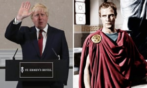Boris Johnson rules himself out of becoming the next Conservative party leader in 2016, and Marlon Brando as Julius Caesar