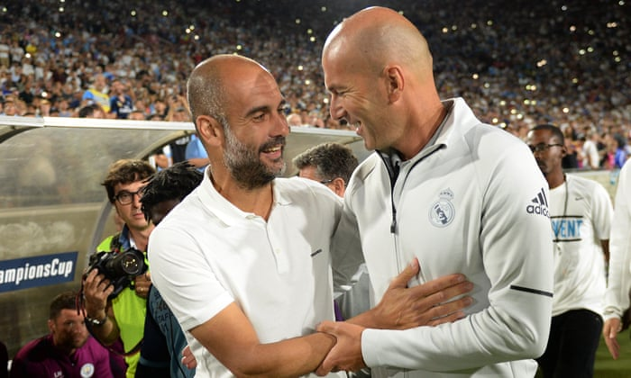 Image result for zidane and pep