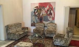 Socialist realist art features throghout Hoxha's villa.