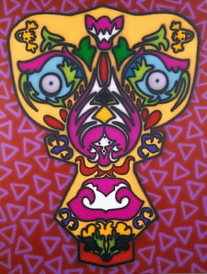Howard Arkley – Arabesque Face (1990)