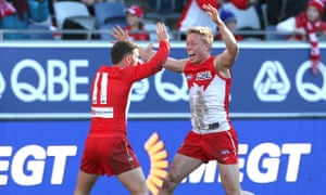 Tom Papley and Isaac Heeney