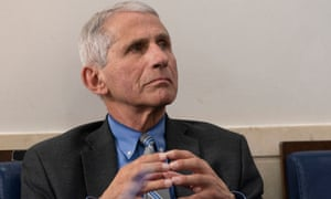 Dr Anthony Fauci, director of the National Institute of Allergy and Infectious Diseases: 'Any time we have a crisis of any sort there is always this popping up of conspiracy theories.'