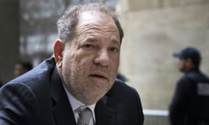 Harvey Weinstein arrives at a Manhattan courthouse for jury selection in his rape trial.