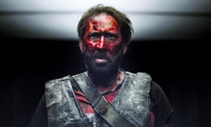 Outrageously over the top … Nicolas Cage in Mandy.