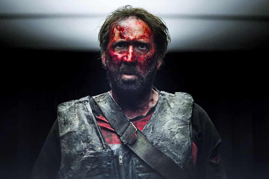 There will be blood … Nicolas Cage in Mandy.