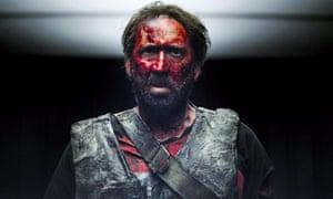 Nicolas Cage in Mandy.