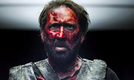 'A poetic work of art' … Nicolas Cage in Mandy.