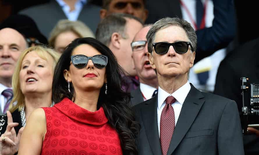 John W Henry, principal owner of Liverpool with his wife Linda Pizzuti.