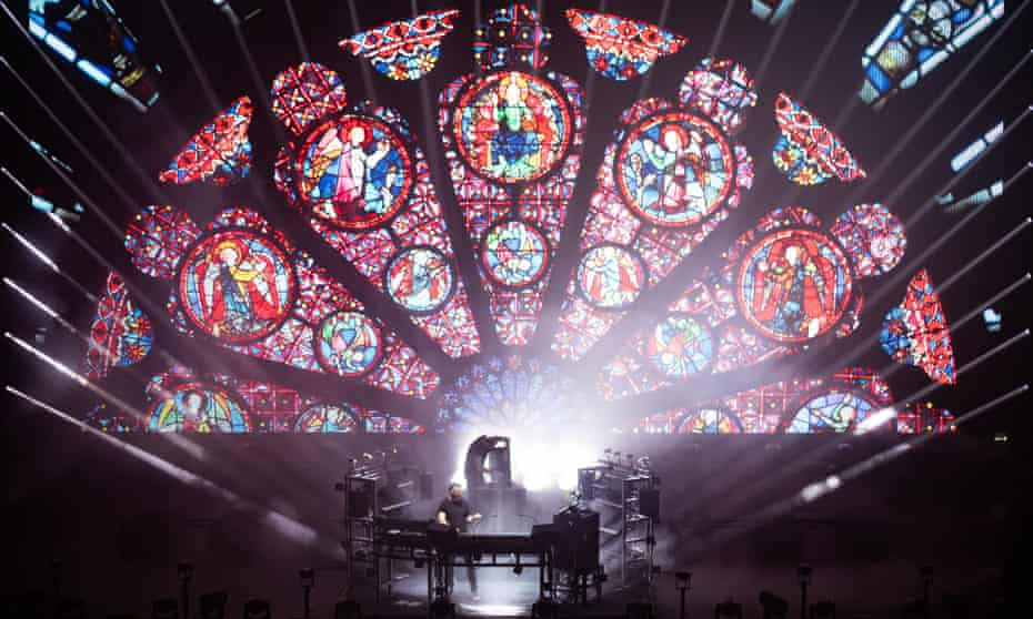 'More like a film set to pulverising but textured music' ... Chemical Brothers in Leeds.