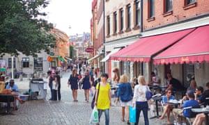 A street scene in Gothenburg, Sweden