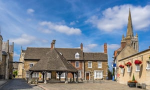 The Buttercross in the market town of Oakham.