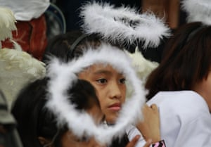 Manila, Philippines Girls dressed as angels