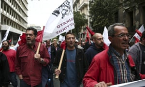 Greeks protest against the austerity bill