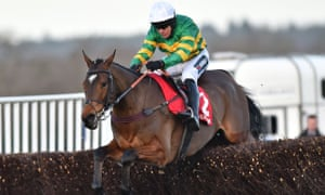 Defi Du Seuil and Barry Geraghty win the Clarence House Chase