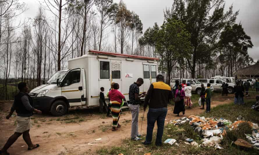 A mobile HIV testing clinic run by Médicins Sans Frontières in Ngudwini, on the outskirts of Eshowe, 2014.