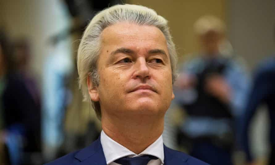 Geert Wilders, the far-right Dutch politician, in court in Schiphol in March.