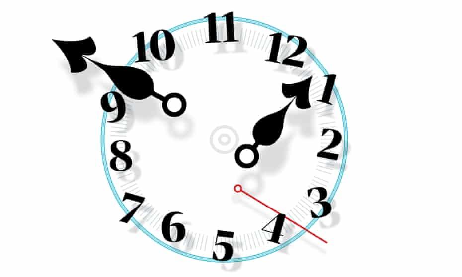 Daylight savings time illustration