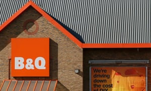 A B&Q store is seen in London.