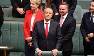 Opposition leader Bill Shorten before his budget reply speech on Thursday night.
