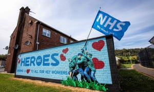 A mural paying tribute to the NHS in Glynn, north of Belfast.
