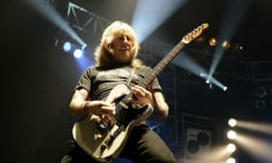 Rick Parfitt playing at Wembley Arena with Status Quo in 2006
