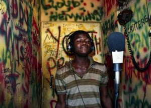Youth Promotion singer Satan in an improvised voicing room