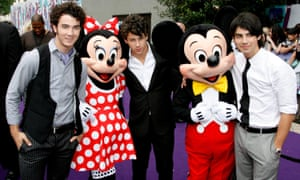 Jonas Brothers at the premiere of Camp Rock, 2008.