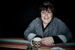 Kathy Burke at home in north London