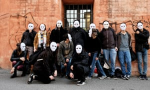 Horrible bosses: masked activists publicly shame businesses in Bologna | Cities | The Guardian