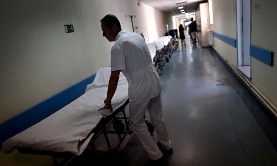 A nurse in an Athens hospital
