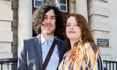 Derry-born Emma DeSouza with her her US-born husband, Jake.