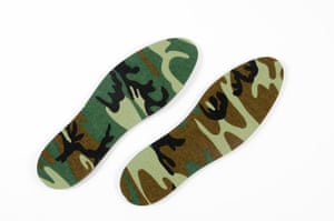 Even insoles for shoes come in camouflage