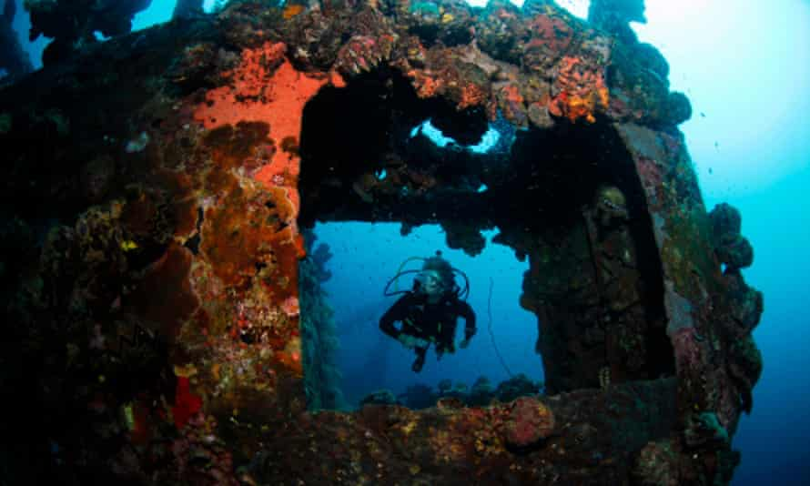 second world war wreck, Coron Bay, Philippines