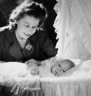 The Queen, then Princess Elizabeth, with her newborn son, Prince Charles Cecil Beaton in1948