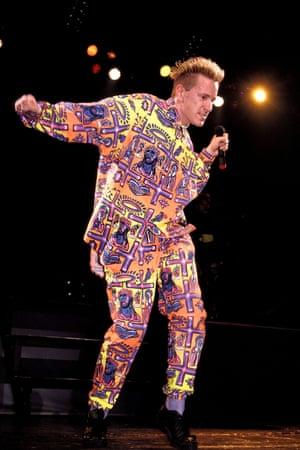 At the Hammersmith Palais in 1987.