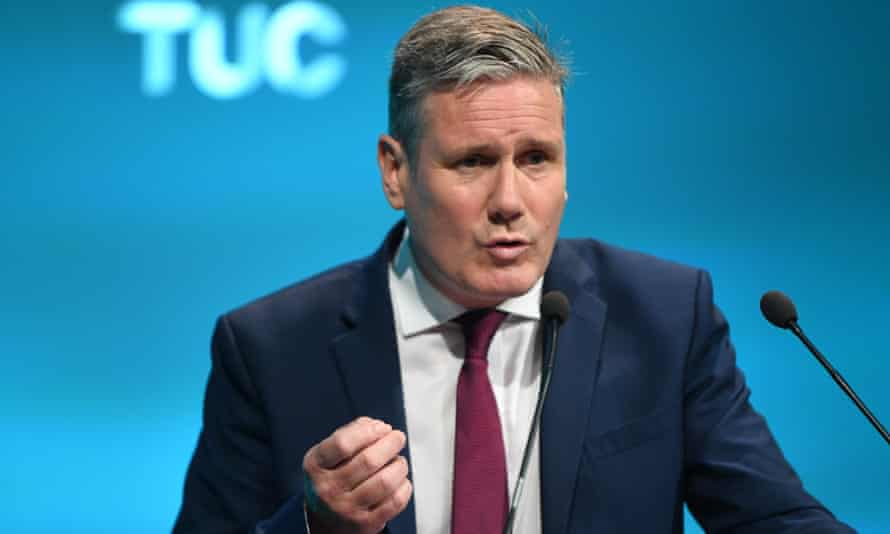 Keir Starmer gives a speech at the TUC annual conference.