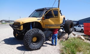 'Brodozer', a customized truck with deleted emissions controls, was featured in the Discovery Channel's show the Diesel Brothers.