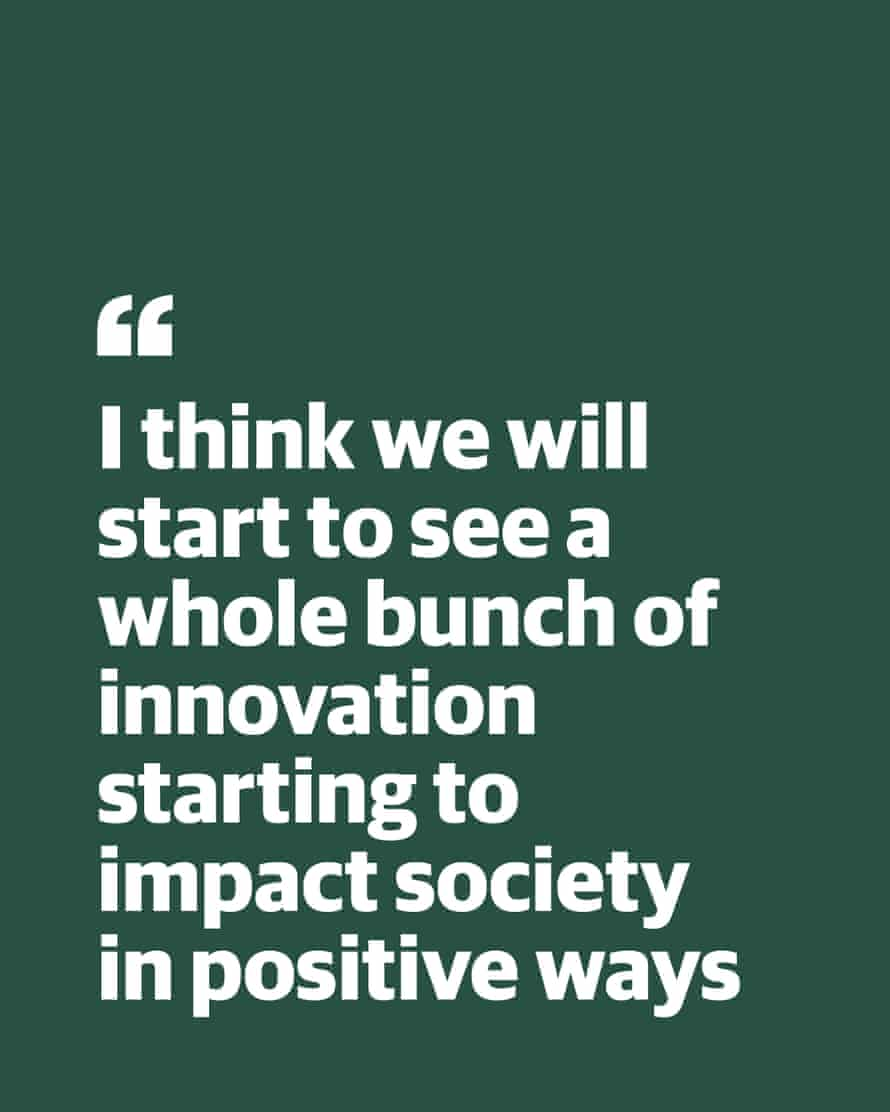 """Quote from Simon Daniel: """"I think we will start to see a whole bunch of innovation starting to impact society in positive ways"""""""