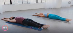 Jonathan Van Ness leads a morning stretch workout on the Fit On App
