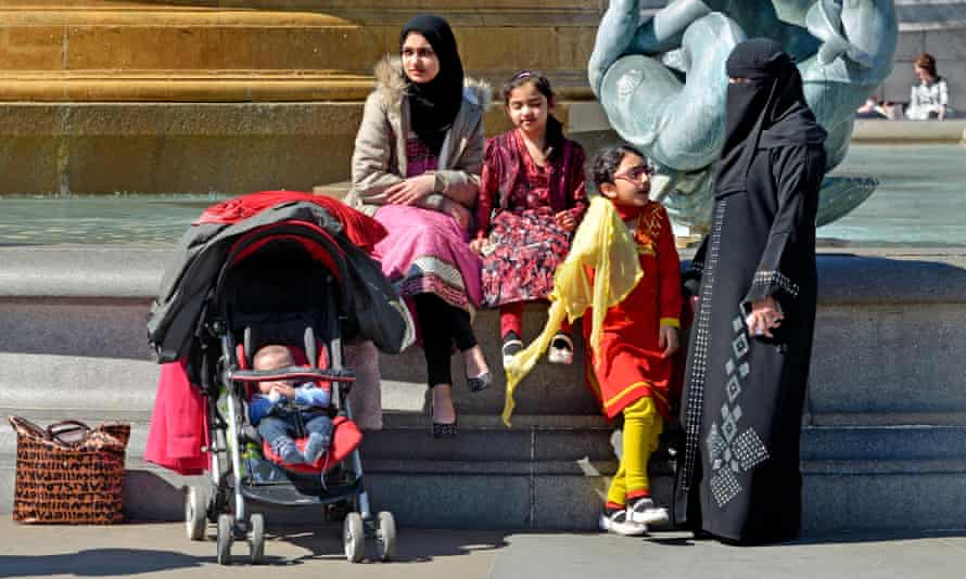 A Muslim family in central London …