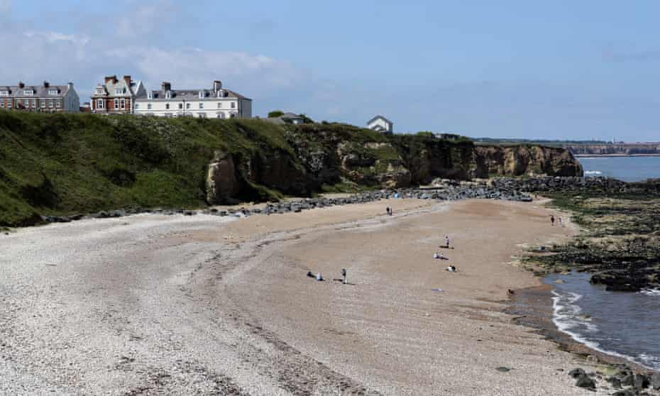 The seaside at the former mining town of Seaham in County Durham