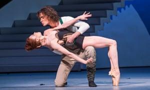 Ekaterina Krysanova as Katharina and Vladislav Lantratov as Petruchio in The Taming Of The Shrew by the Bolshoi Ballet.