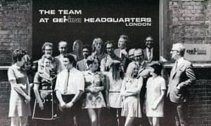 Promotional leaflet showing Gemini News Service staff in 1969. (Archive ref: GEM/6/1/4)