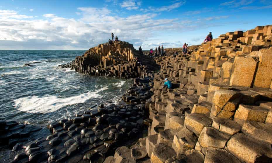 Polygonal basalt: the Giant's Causeway, near Bushmills Inn, County Antrim.