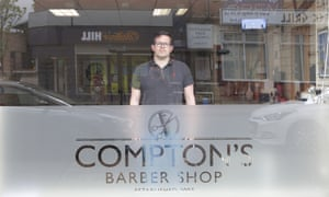 'I've been here 12 years and loved every minute' ... Steve Compton in his barber shop.