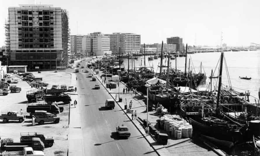 1960s Dubai harbour